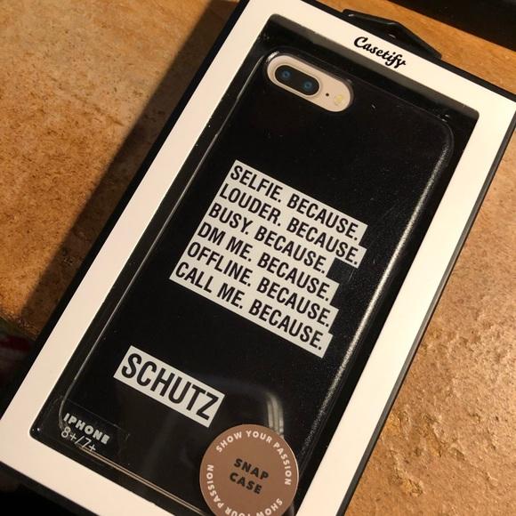 online store 72fc5 cf054 Schutz/Casetify iPhone 7+, 8+ Case NWT